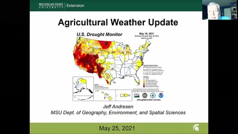 Thumbnail for entry Agricultural weather forecast for May 25, 2021