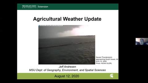 Thumbnail for entry Agricultural weather forecast for August 12, 2020