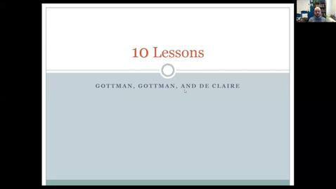 Thumbnail for entry 10 Lessons - Gottman