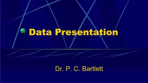 Thumbnail for entry HM864 Data Presentation