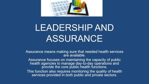 Thumbnail for entry LEADERSHIP AND ASSURANCE av