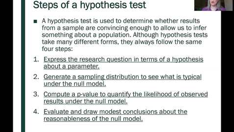 Thumbnail for entry STT 200 Introduction to Hypothesis Tests 2