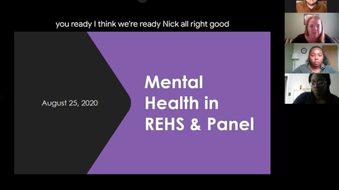 Thumbnail for entry REHS CAPS Mental Health Panel Discussion