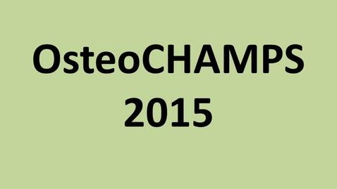 Thumbnail for entry MSUCOM OsteoCHAMPS 2015 Program