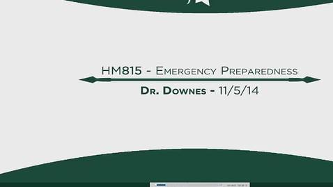 Thumbnail for entry HM815 MOD12EmergencyPreparedness