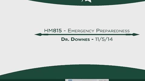 Thumbnail for entry HM815 MOD12EmergencyPreparedness