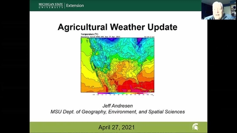 Thumbnail for entry Agricultural weather forecast for April 27, 2021