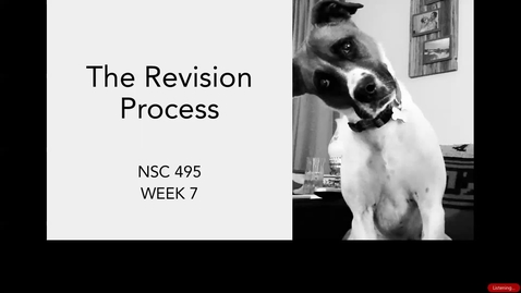 Thumbnail for entry Lecture 7-Part 1_Eli Review Feedback_Week 7