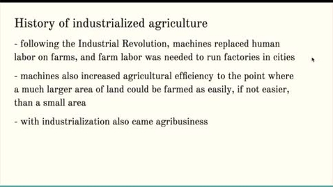 Thumbnail for entry ISS310: Industrialized Agriculture & the Green Revolution