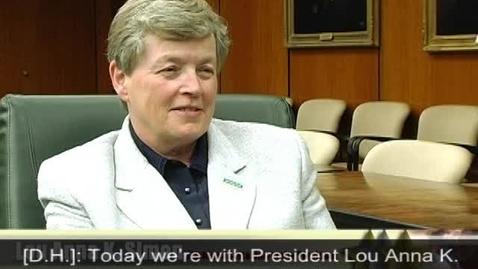 Thumbnail for entry MSU President Simon Video