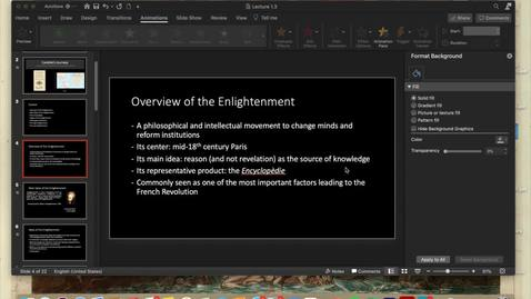 Thumbnail for entry Lecture 1.3 - Part 3 (Main Ideas of the Enlightenment)