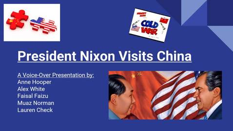 Thumbnail for entry ISS 330B--Section 003--President Nixon Visits China