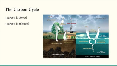 Thumbnail for entry ISS310: The Carbon Cycle, Greenhouse Gas Emissions, & Your Carbon Footprint