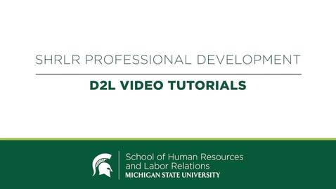 Thumbnail for entry Accessing Your Certification Examination in D2L