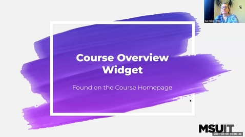 Thumbnail for entry Monitoring Your D2L Course: Course Overview Widget