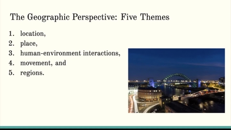 Thumbnail for entry ISS310: Five Themes