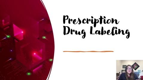 Thumbnail for entry Prescription drug labeling