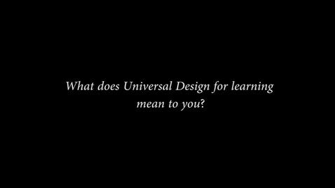 Thumbnail for entry FLC UDL/Backward Design interview Breana Yaklin