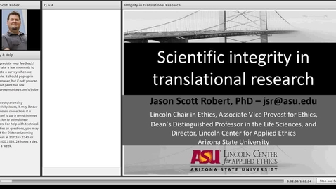 Thumbnail for entry Integrity in Translational Research
