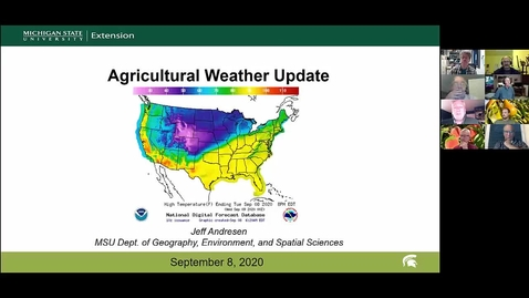 Thumbnail for entry Agricultural weather forecast for September 8, 2020