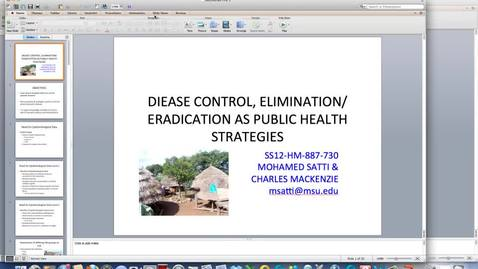 Thumbnail for entry WEEK-ONE-LECTURE-DISEASE-CONTROLAS-PUBLIC-HEALTH-STRATEGIES-HM-887
