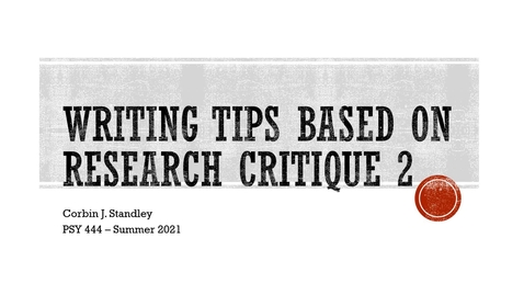 Thumbnail for entry RC2 Writing Tips