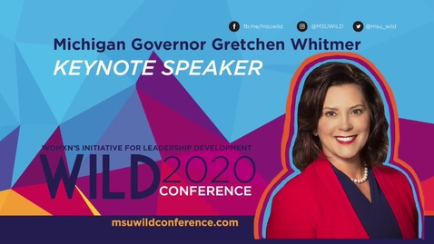Thumbnail for entry WILD KEYNOTE: Gretchen Whitmer