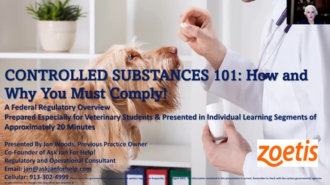 Thumbnail for entry VM 509 Controlled Substances Introduction