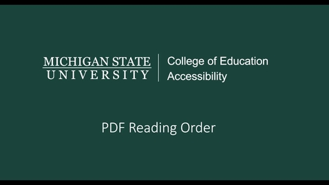 Thumbnail for entry PDF Reading Order Video Tutorial