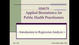 Thumbnail for entry IntroductionRegressionAnalysisHM878_2014