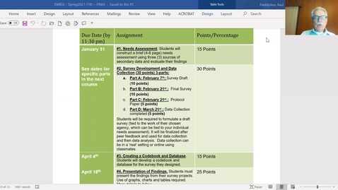 Thumbnail for entry Brief overview of main assignments