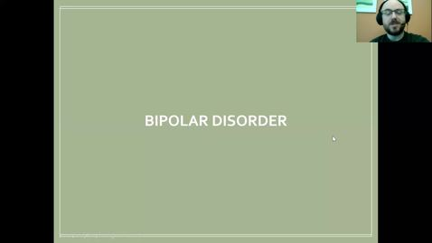 Thumbnail for entry Bipolar Disorders