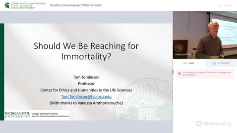 Thumbnail for entry Should We Be Reaching for Immortality?
