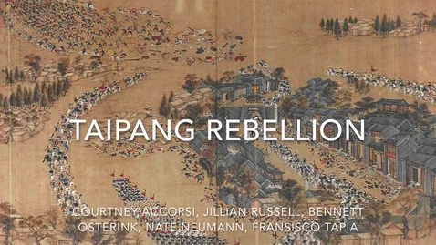 Thumbnail for entry Taiping Rebellion