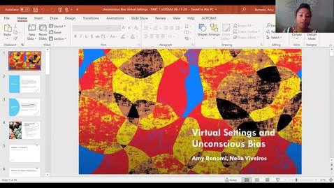 Thumbnail for entry Expanded Version: Unconscious Bias in Virtual Settings