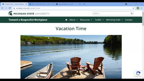 Thumbnail for entry WNA: The Importance of Taking Time Off and the Benefits of Staycations