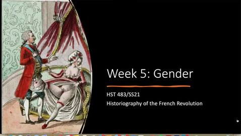 Thumbnail for entry Week 5 Lecture - Gender