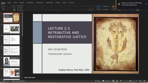 Thumbnail for entry Lecture 2.3 - Part 1