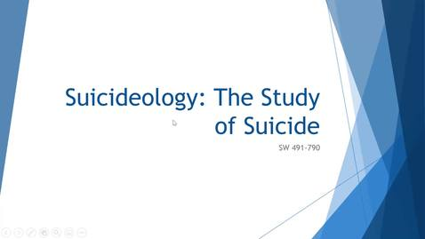 Thumbnail for entry Suicideology: The Study of Suicide