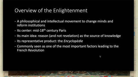 Thumbnail for entry Lecture 1.3 - Part 2 (Overview of Enlightenment)