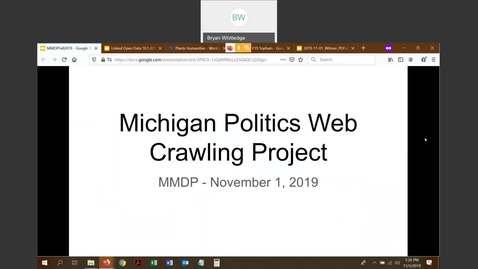 Thumbnail for entry Michigan Politics Webcrawling Project - Ed Busch & Julia Ezzo (Michigan State University)