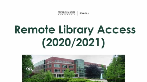 Thumbnail for entry Remote Library Access (2020/2021)