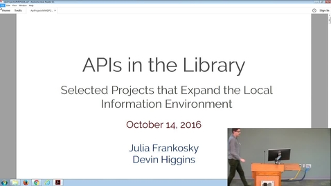 Thumbnail for entry MMDP20161014_2_APIs_intheLibrary