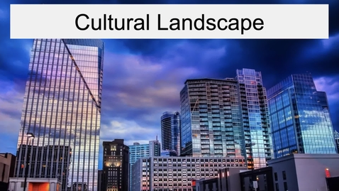 Thumbnail for entry GEO330: Inland South: Cultural Landscape