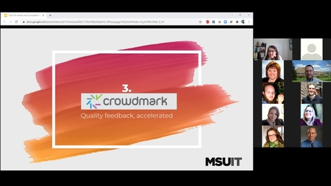 Thumbnail for entry Clip of IT Virtual Workshop - Tools for Consistent and Easier Grading: Crowdmark