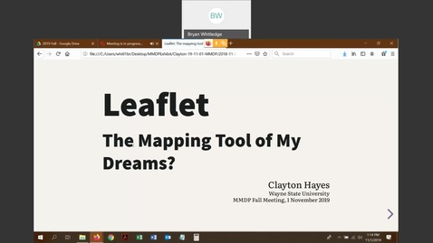 Thumbnail for entry Leaflet: The mapping tool of my dreams? - Clayton Hayes (Wayne State University)