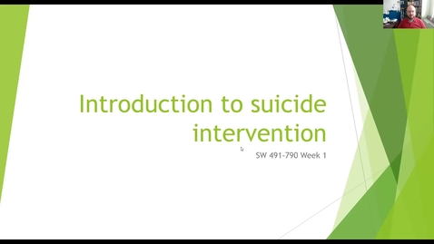 Thumbnail for entry Introduction to Suicide Intervention