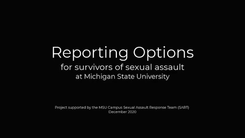 Thumbnail for entry SART - Reporting Options