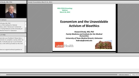 Thumbnail for entry Economism and the Unavoidable Activism of Bioethics