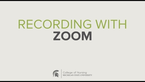 Thumbnail for entry Recording a presentation with Zoom